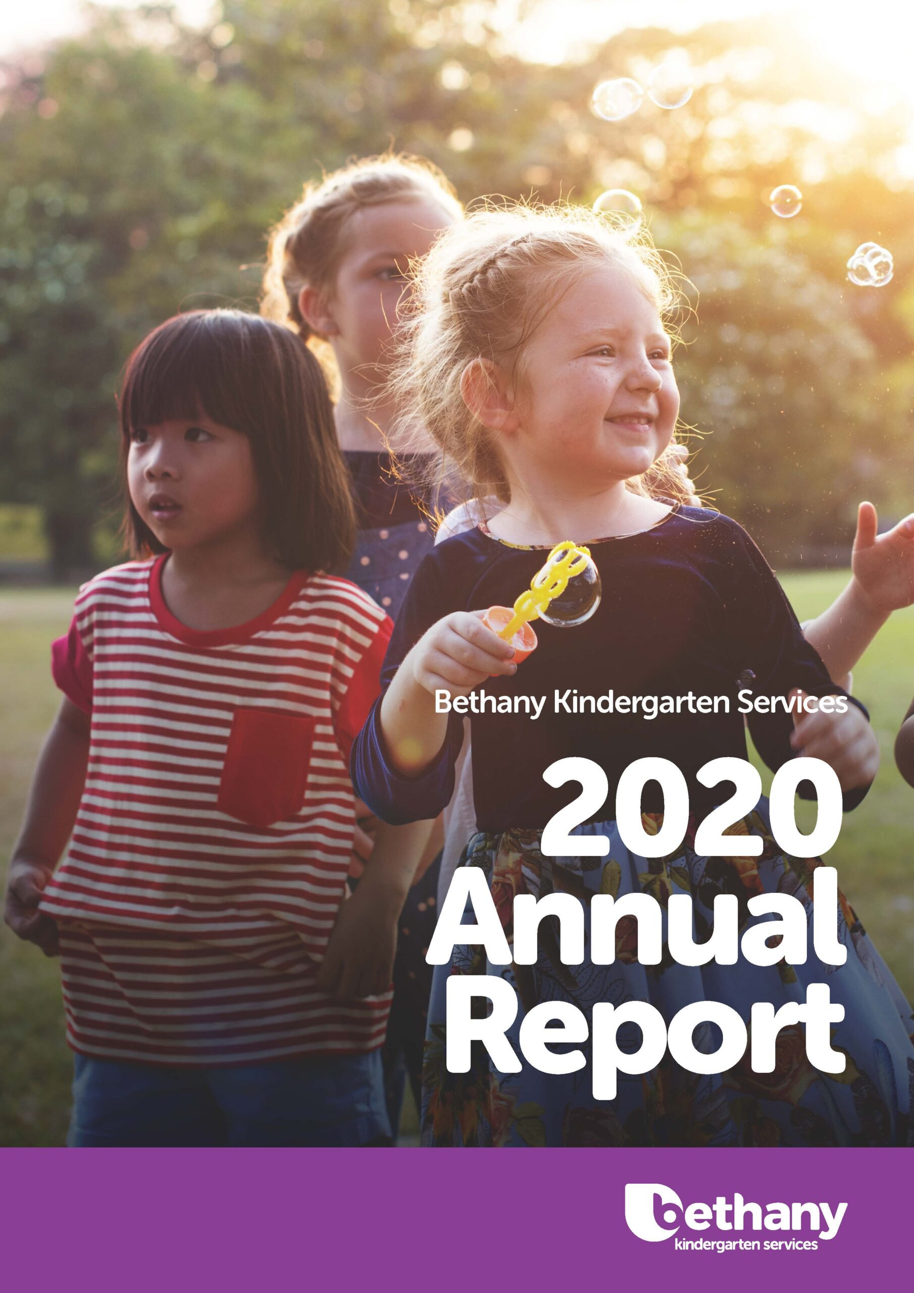 Front cover of the 2020 Bethany Kindergarten Services annual report